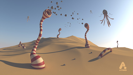 Planet 42, CG 3D motion graphics animated short film, design animation art direction altered.tv London